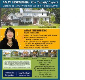33% Increase in Number of Transactions In Tenafly vs Same Period Last Year