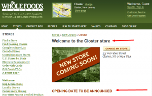 The Rumor Is Officially Verified….Wholefoods is Coming Soon To Closter……