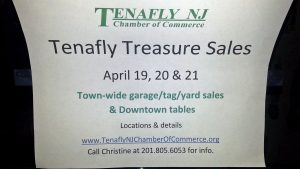 Tenafly Chamber of Commerce to Hold Its  First Tenafly Treasure Sales Event April 19-21