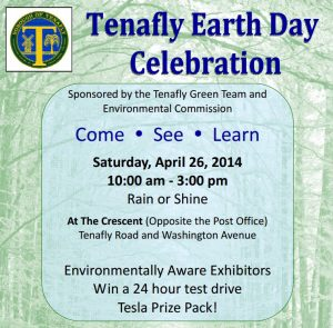 Mark Your Calendars – Tenafly Earth Day celebration April 25-26