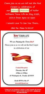 Grand Opening of Keller Williams Office in Tenafly May28th 4-8pm