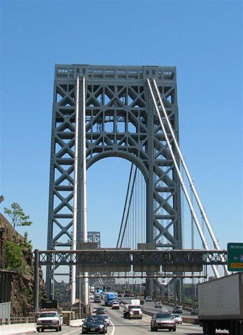 The GWB has one foot in Fort Lee and the other in NY
