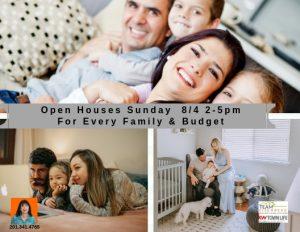 Team Eisenberg Open Houses Sunday 8/4