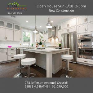 Team Eisenberg Open Houses Sunday 8/18